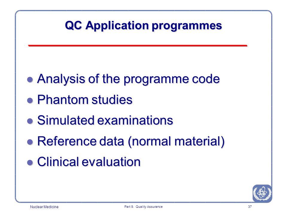 QC Application programmes