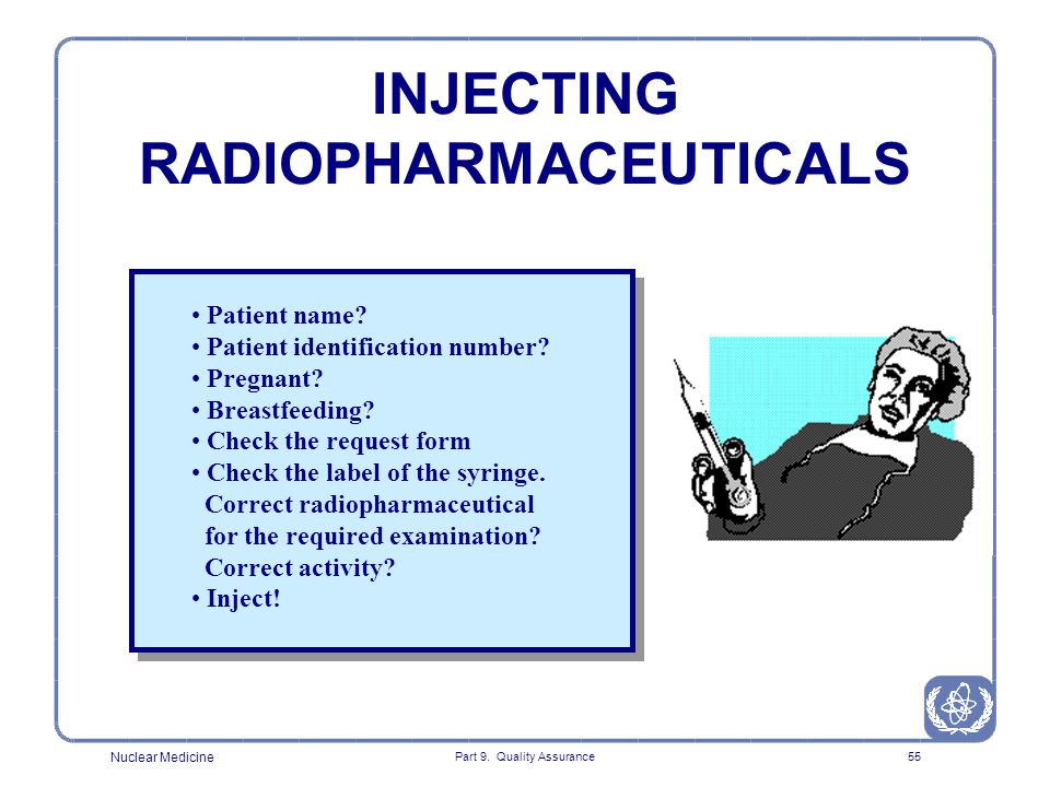 INJECTING RADIOPHARMACEUTICALS