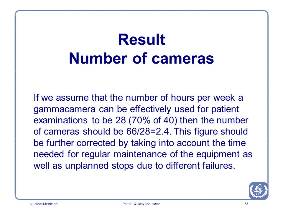 Result Number of cameras