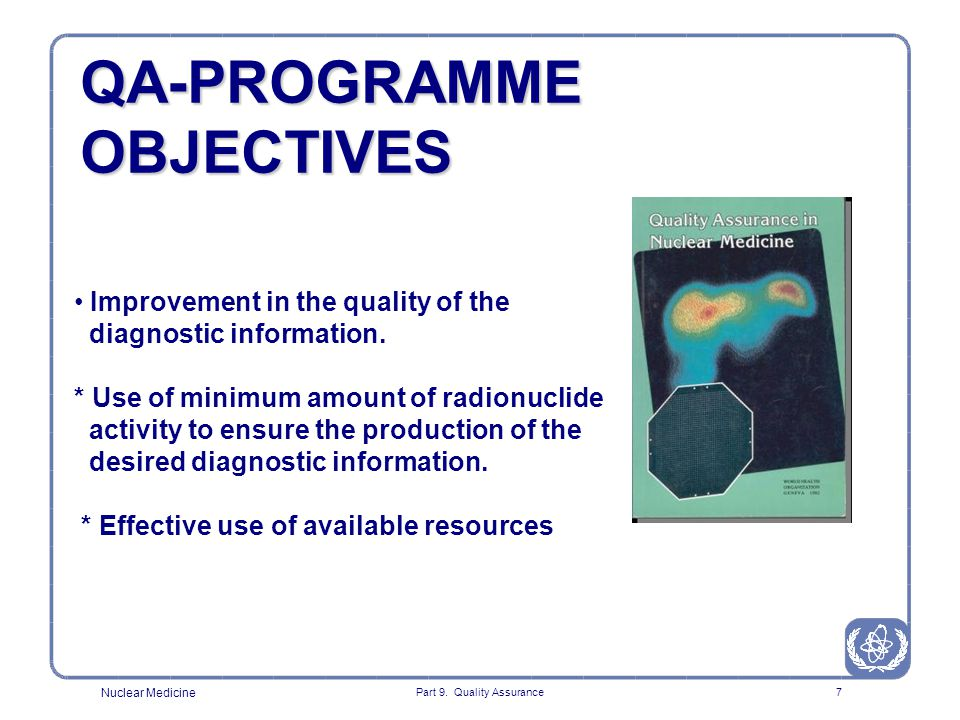 QA-PROGRAMME OBJECTIVES