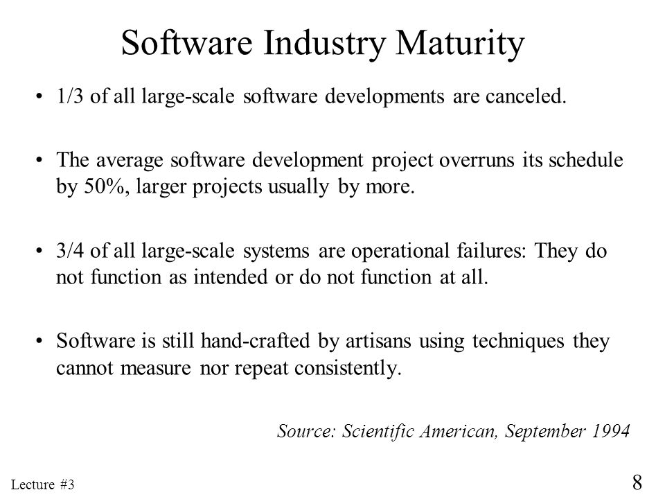 Software Industry Maturity