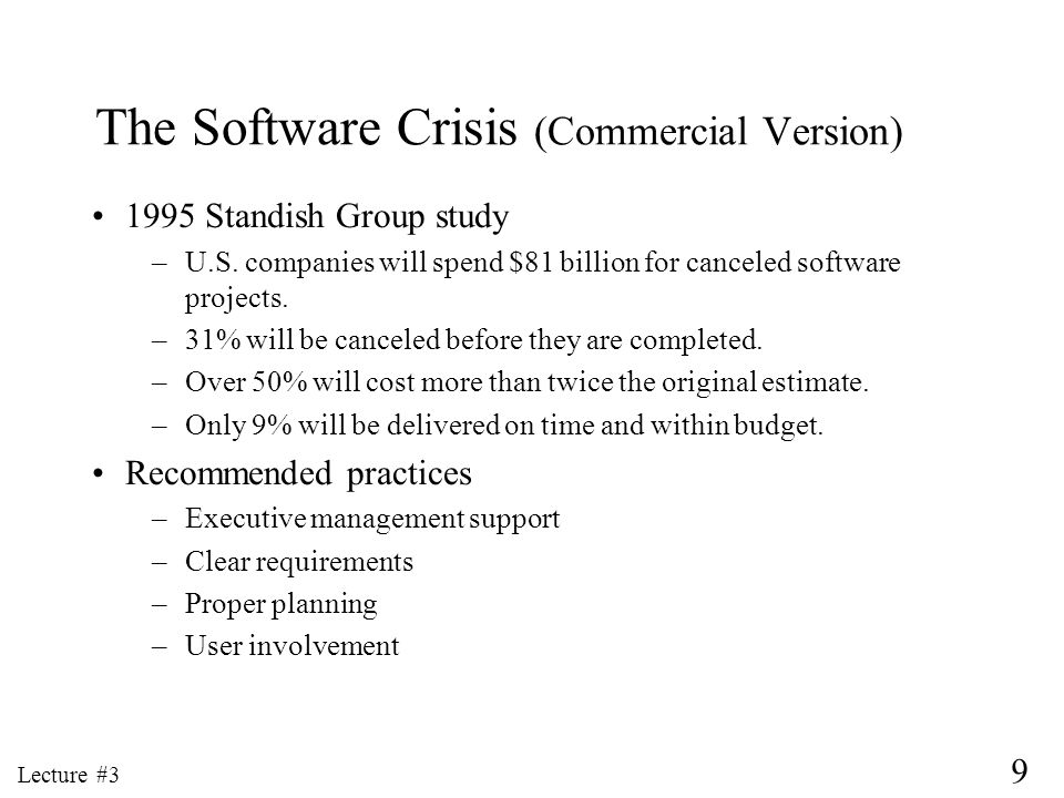 The Software Crisis (Commercial Version)