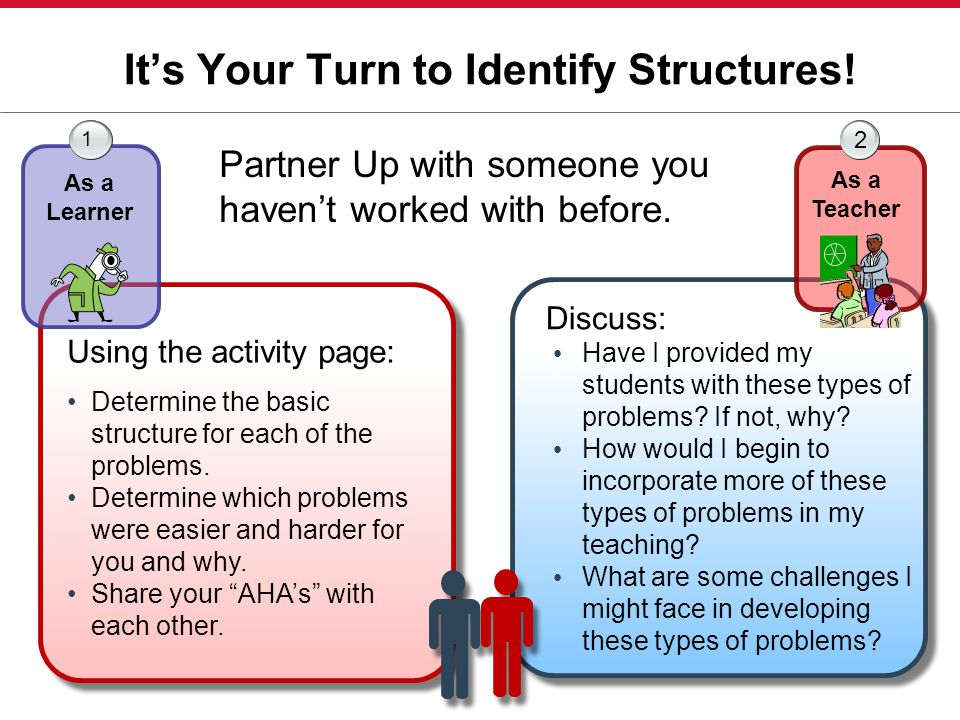 It's Your Turn to Identify Structures!