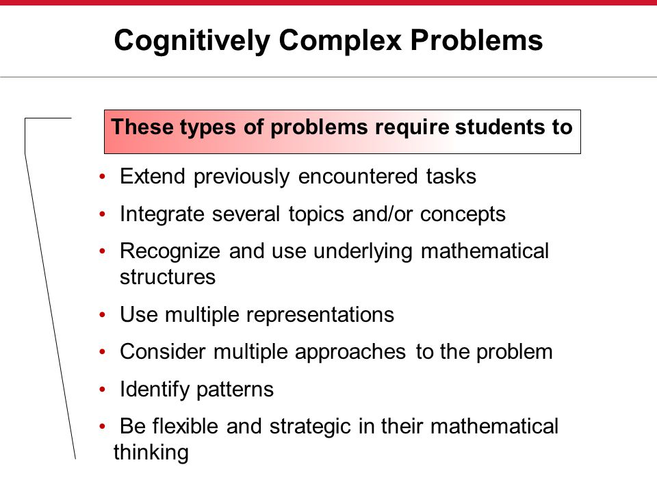 Cognitively Complex Problems