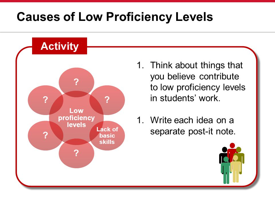Causes of Low Proficiency Levels