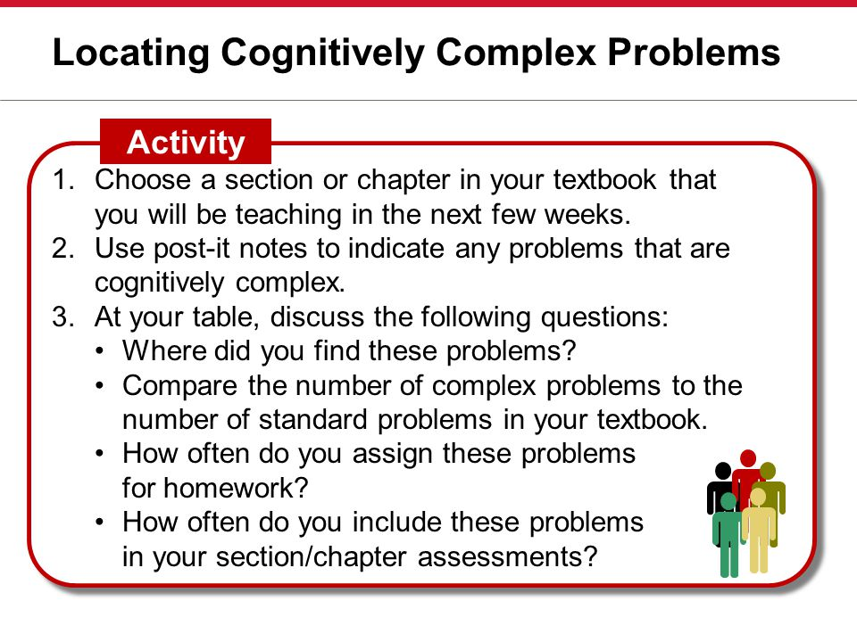 Locating Cognitively Complex Problems