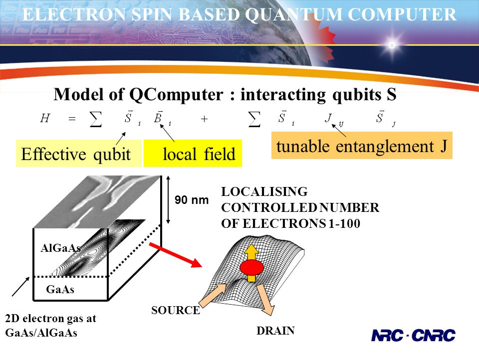 ELECTRON SPIN BASED QUANTUM COMPUTER