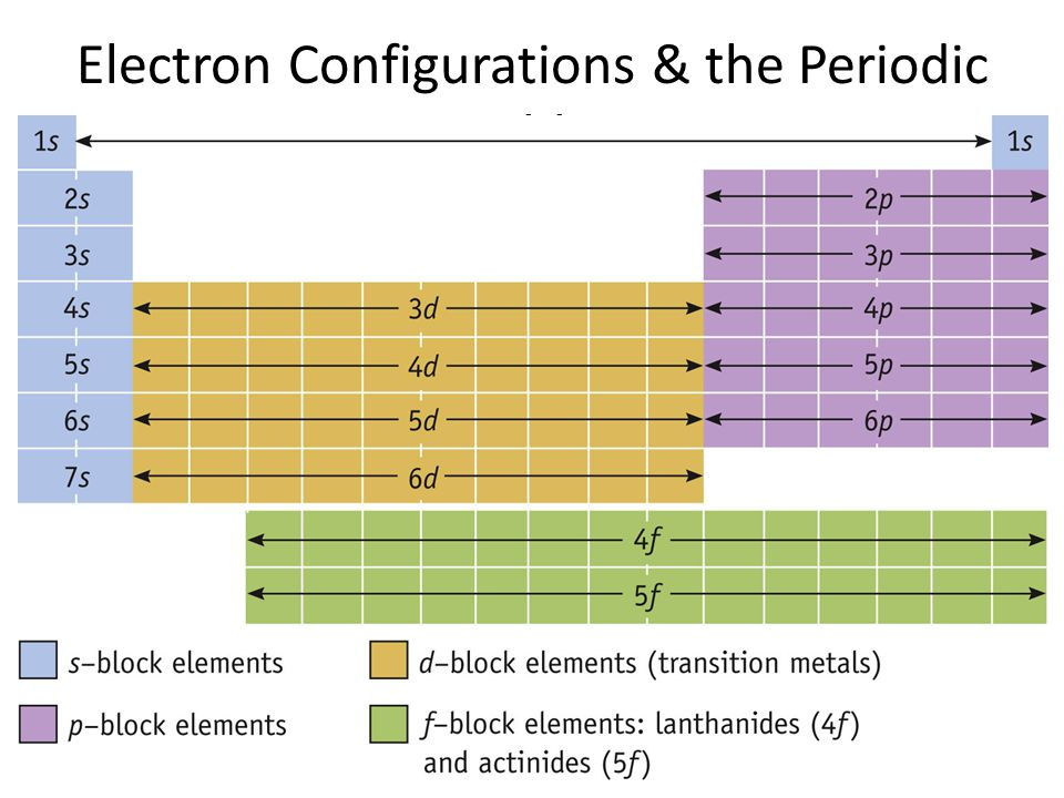 Electron Configurations & the Periodic Table