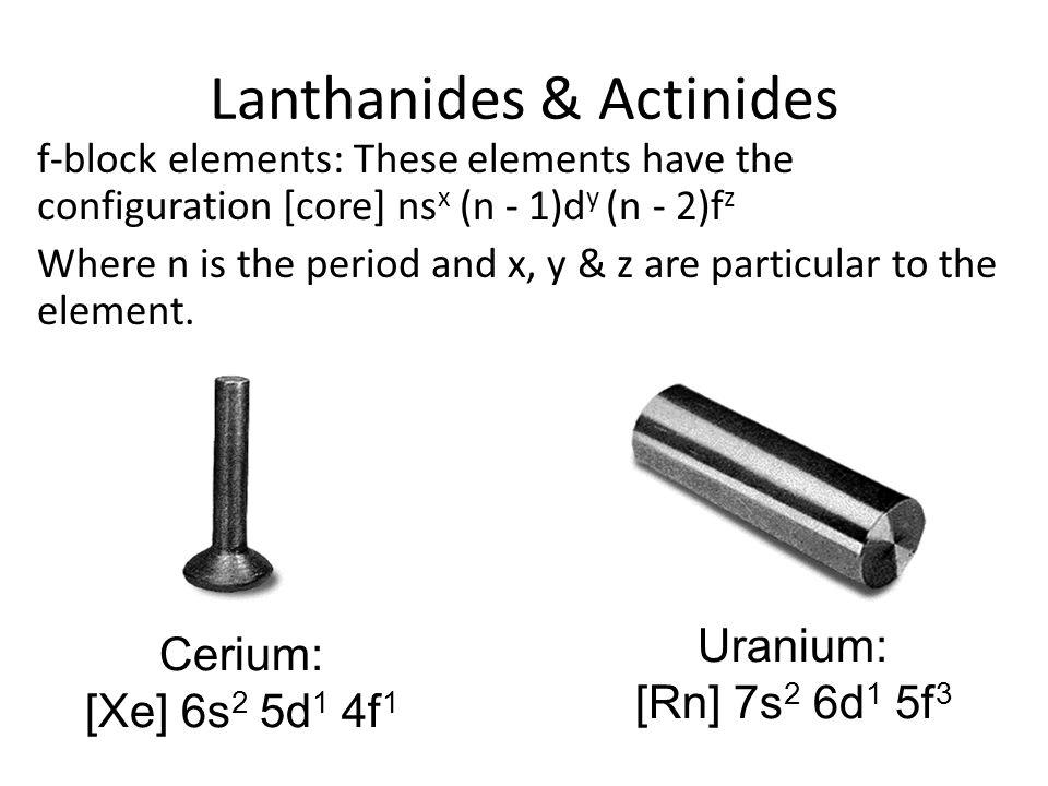 Lanthanides & Actinides
