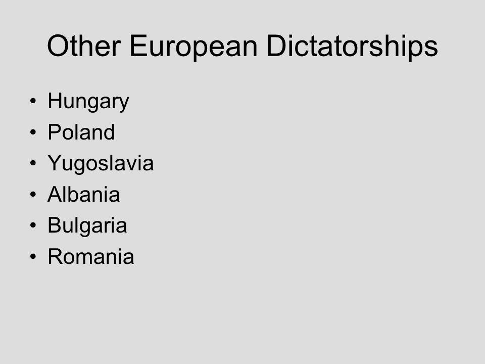 Other European Dictatorships