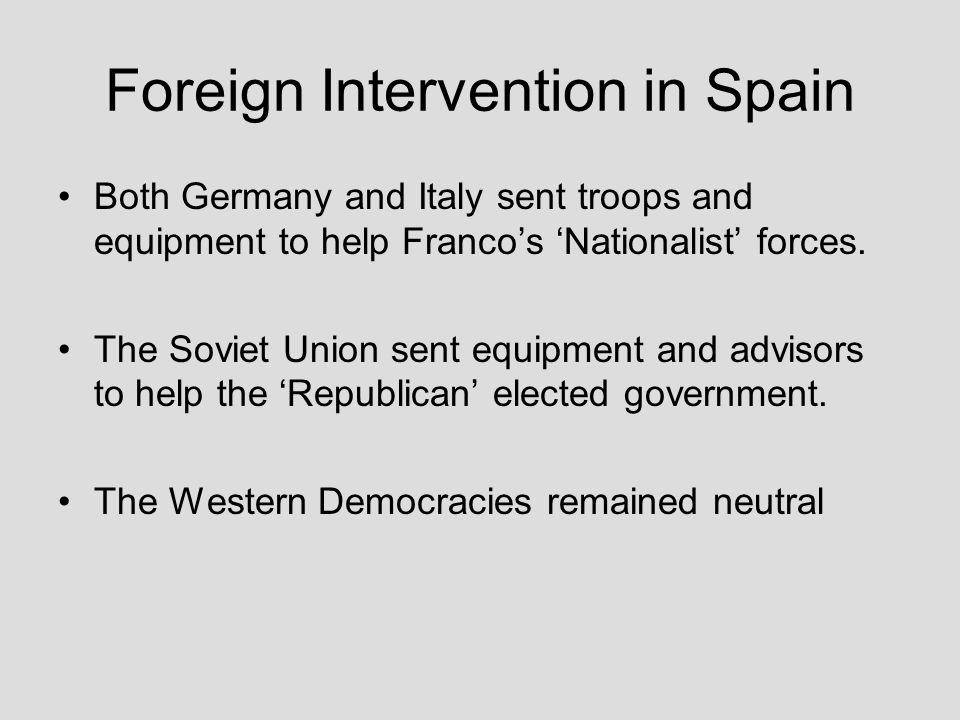 Foreign Intervention in Spain