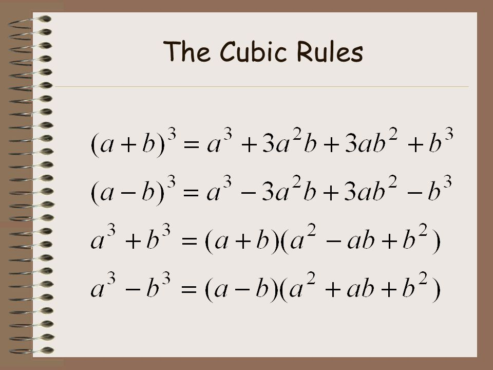 The Cubic Rules