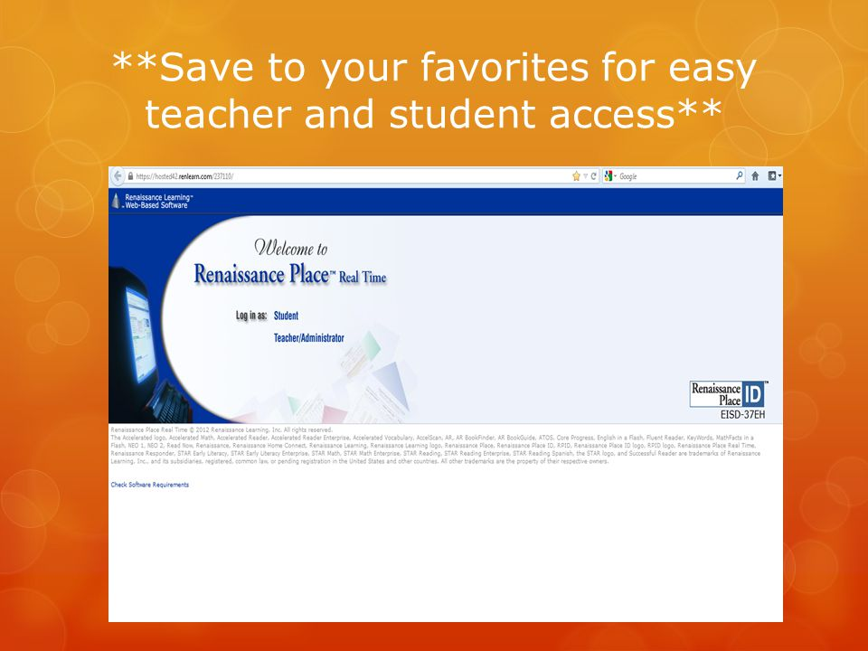 **Save to your favorites for easy teacher and student access**