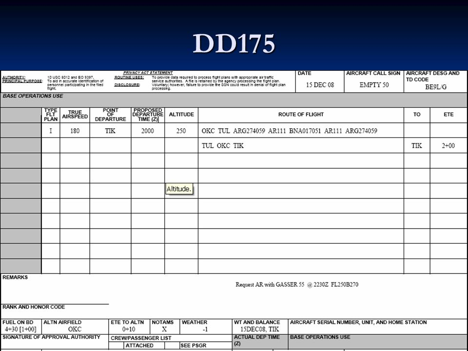 DD175