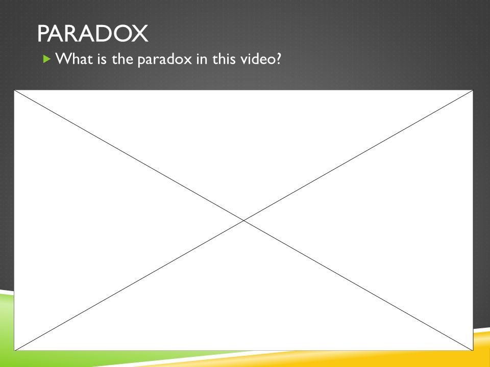 paradox What is the paradox in this video