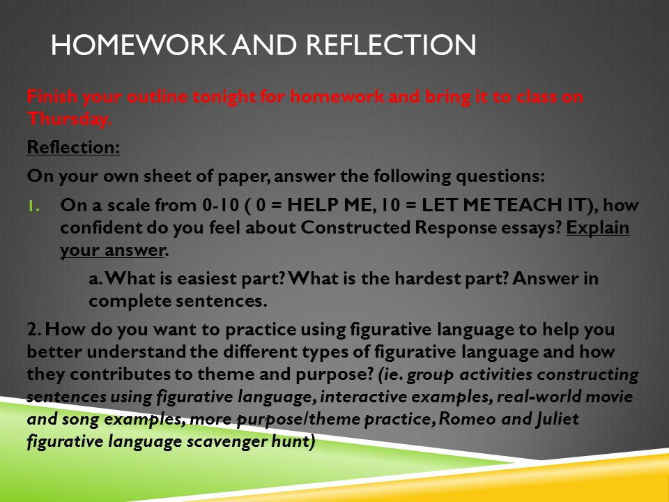 act ii figurative language metaphor extended metaphor simile  23 homework and reflection
