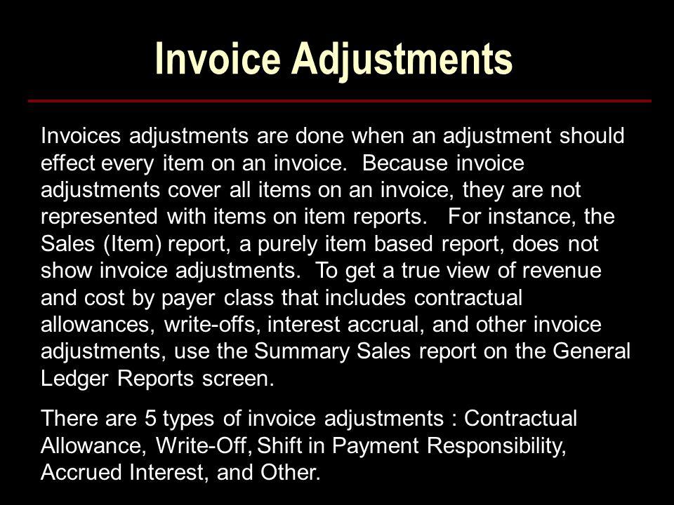 Invoice Adjustments