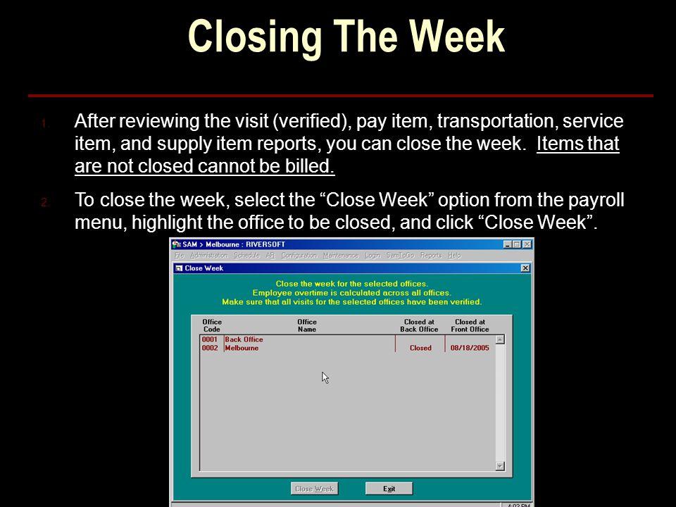 Closing The Week