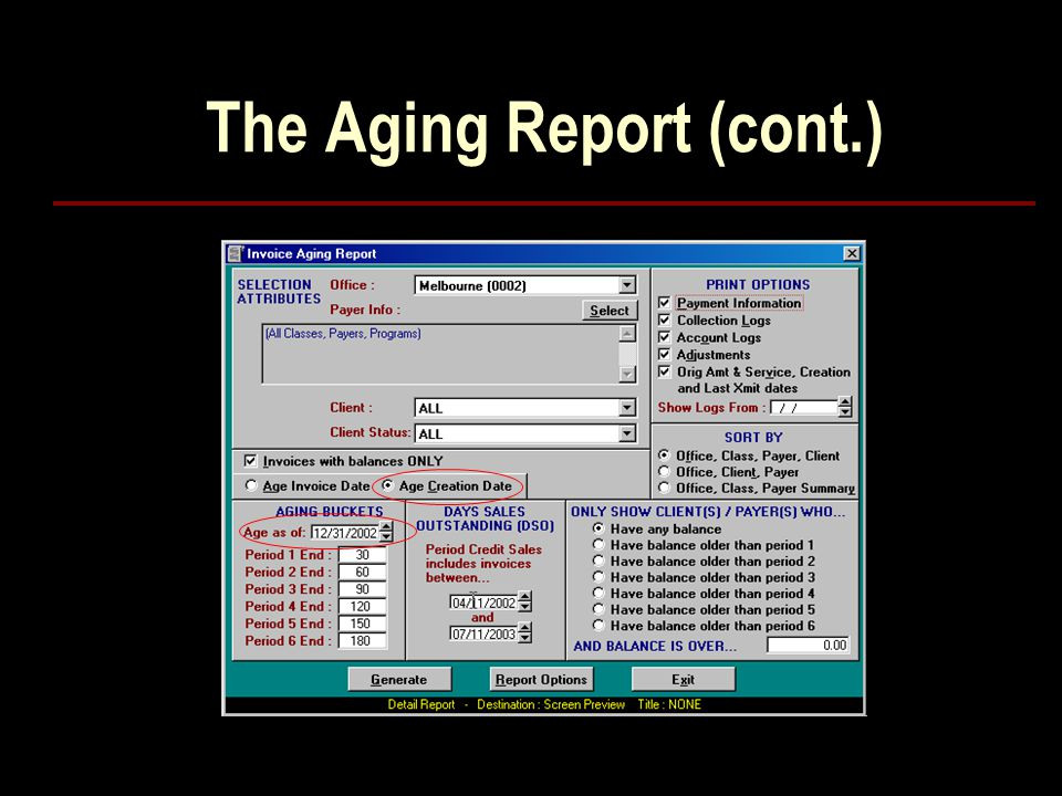 The Aging Report (cont.)
