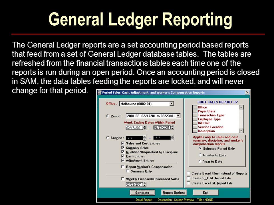 General Ledger Reporting