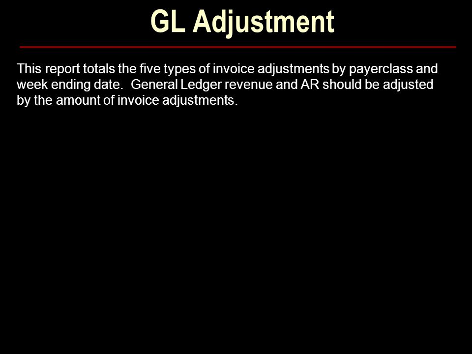GL Adjustment