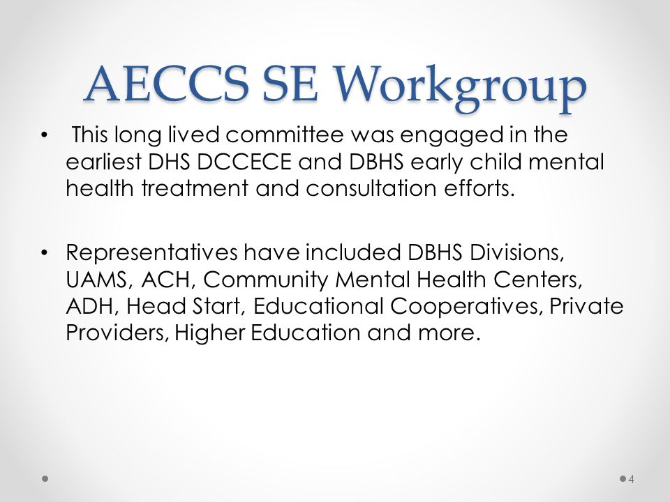 AECCS SE Workgroup