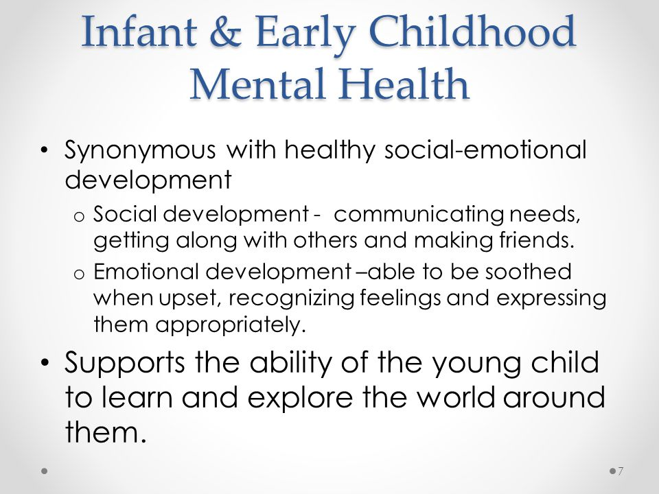 Infant & Early Childhood Mental Health