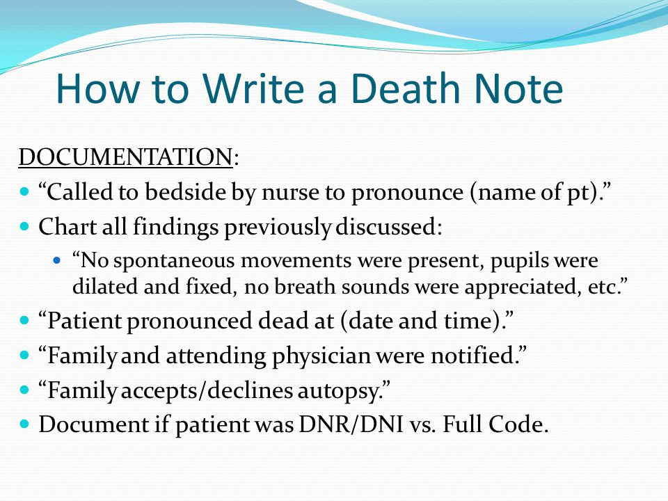 How to Write a Death Note