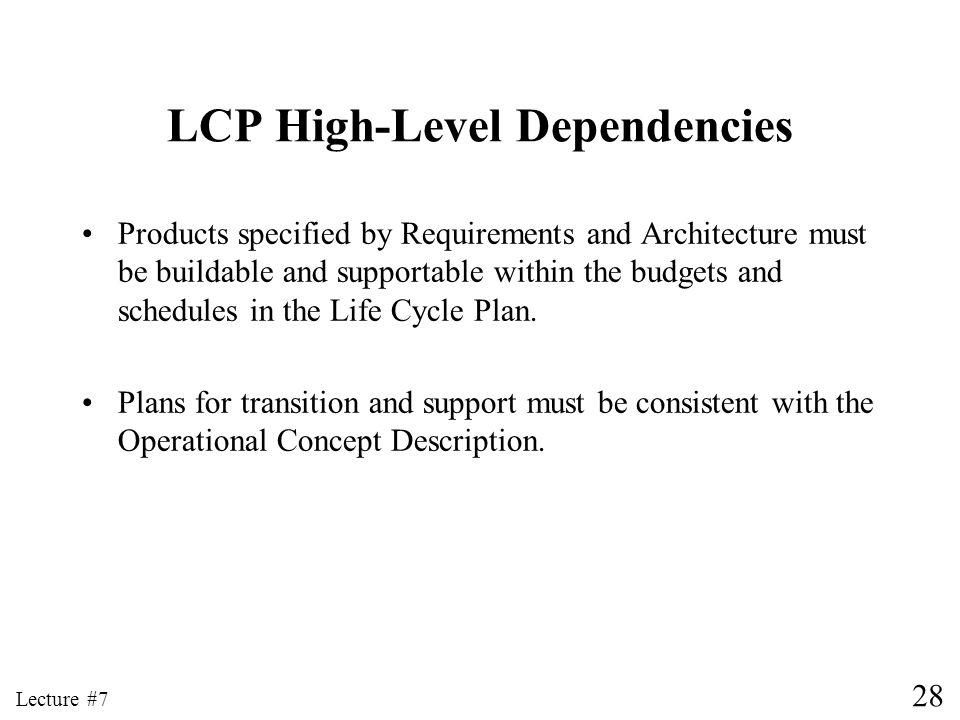 LCP High-Level Dependencies