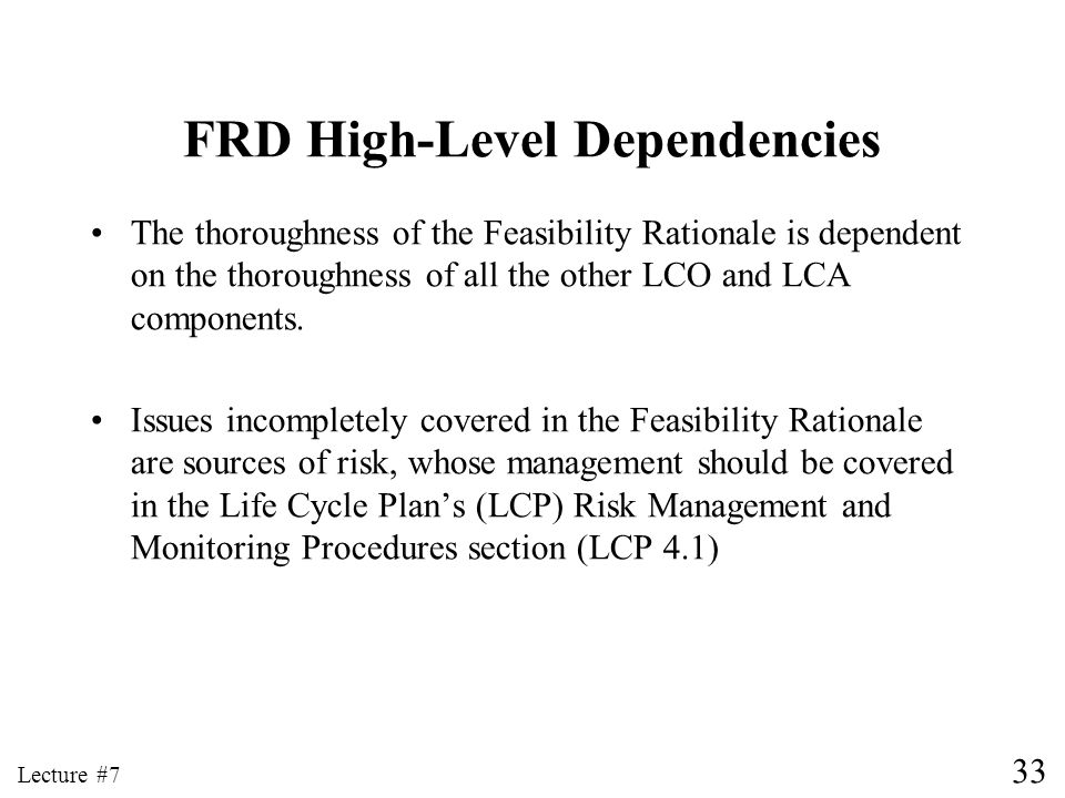 FRD High-Level Dependencies