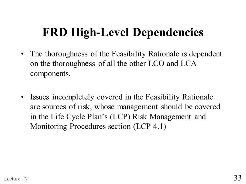 FRD High-Level Dependencies