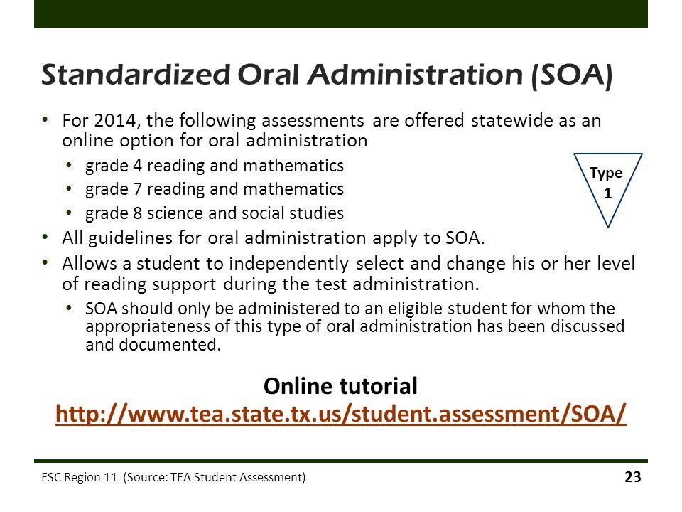 Standardized Oral Administration (SOA)