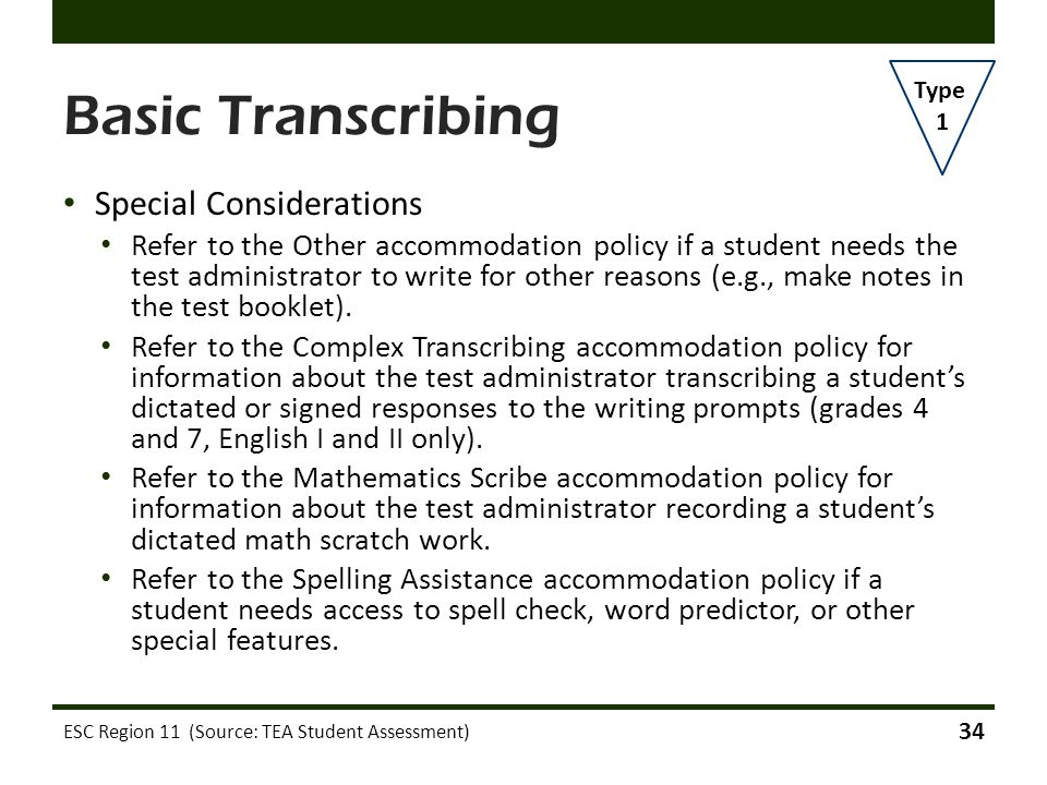 Basic Transcribing Special Considerations
