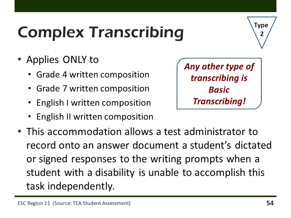 Any other type of transcribing is Basic