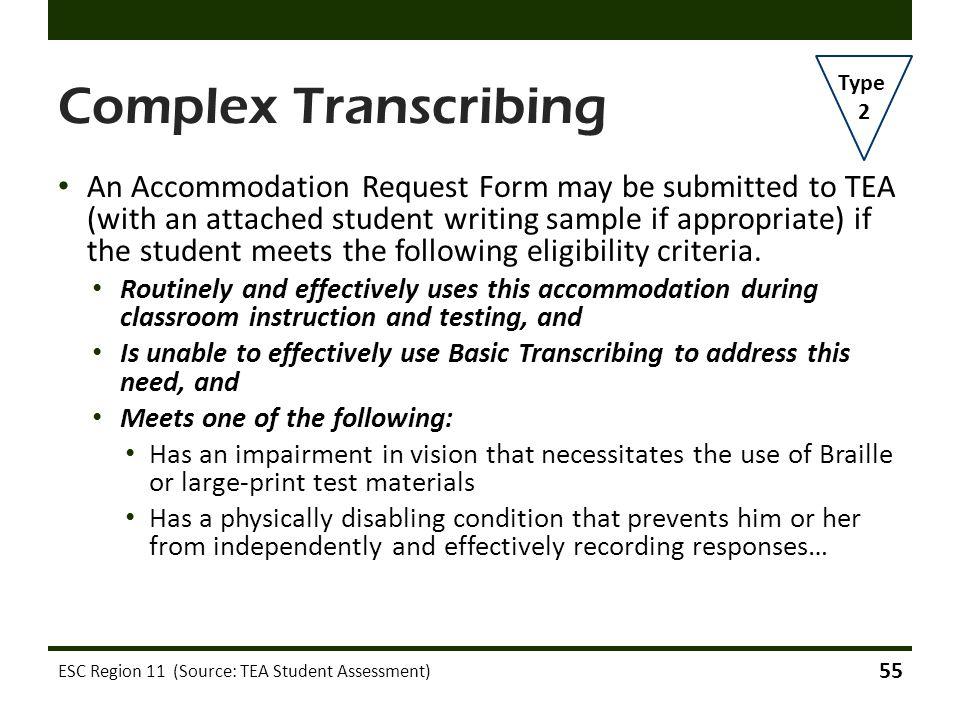 Complex Transcribing Type. 2.