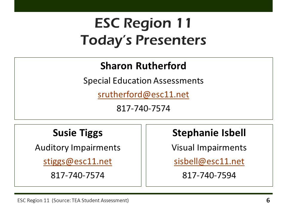 ESC Region 11 Today's Presenters