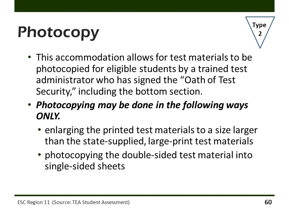 Photocopy Type. 2.