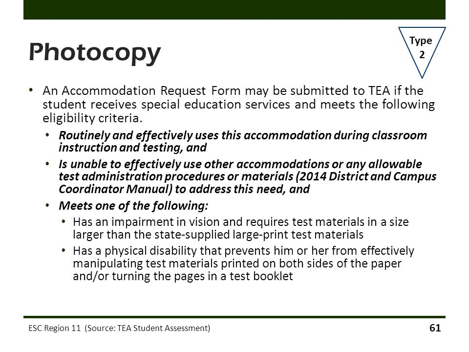 Photocopy Type. 2.
