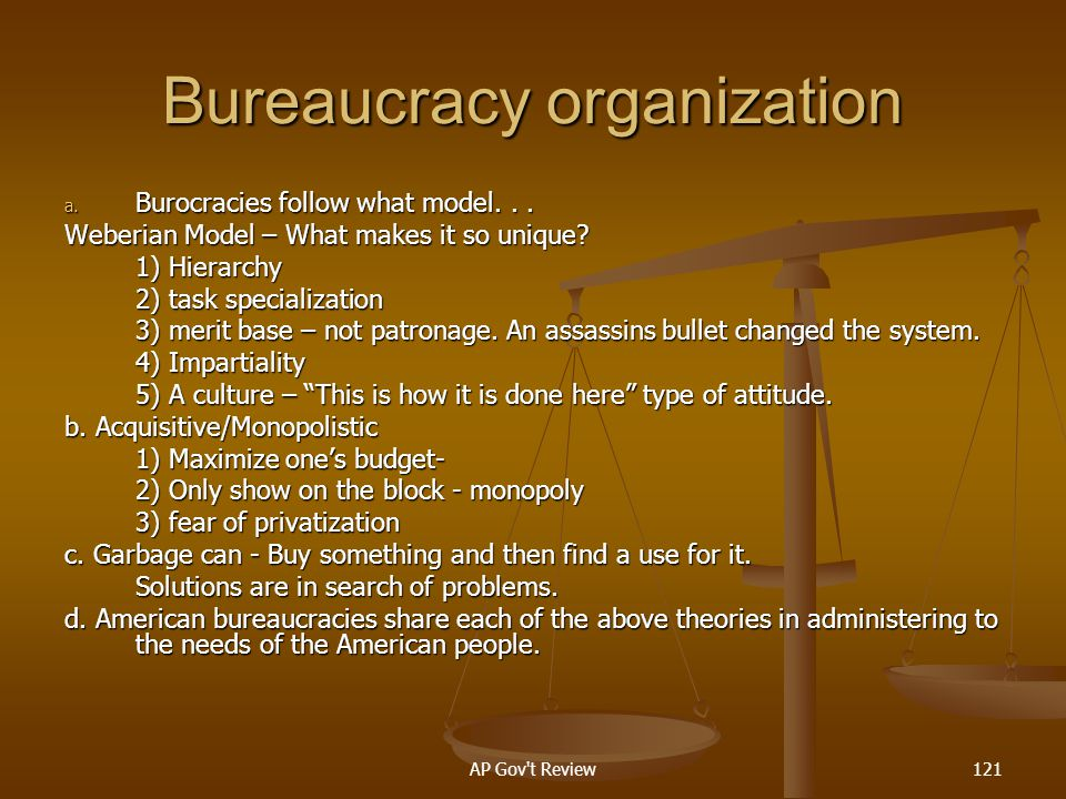 Bureaucracy organization