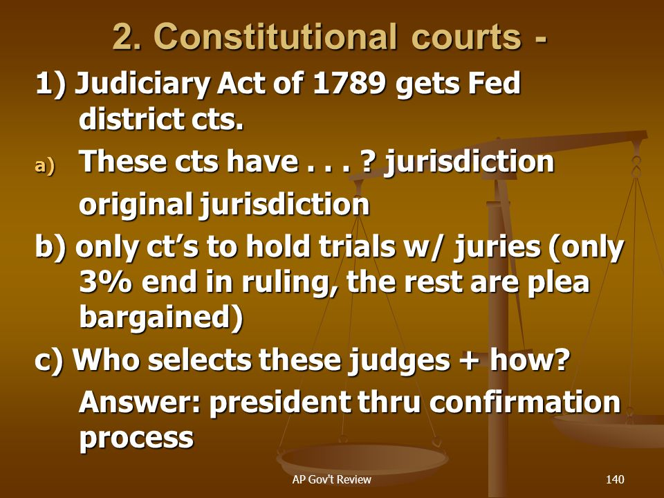 2. Constitutional courts -