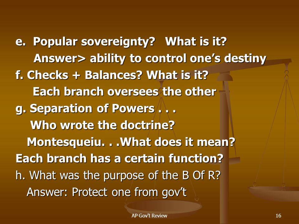 e. Popular sovereignty What is it