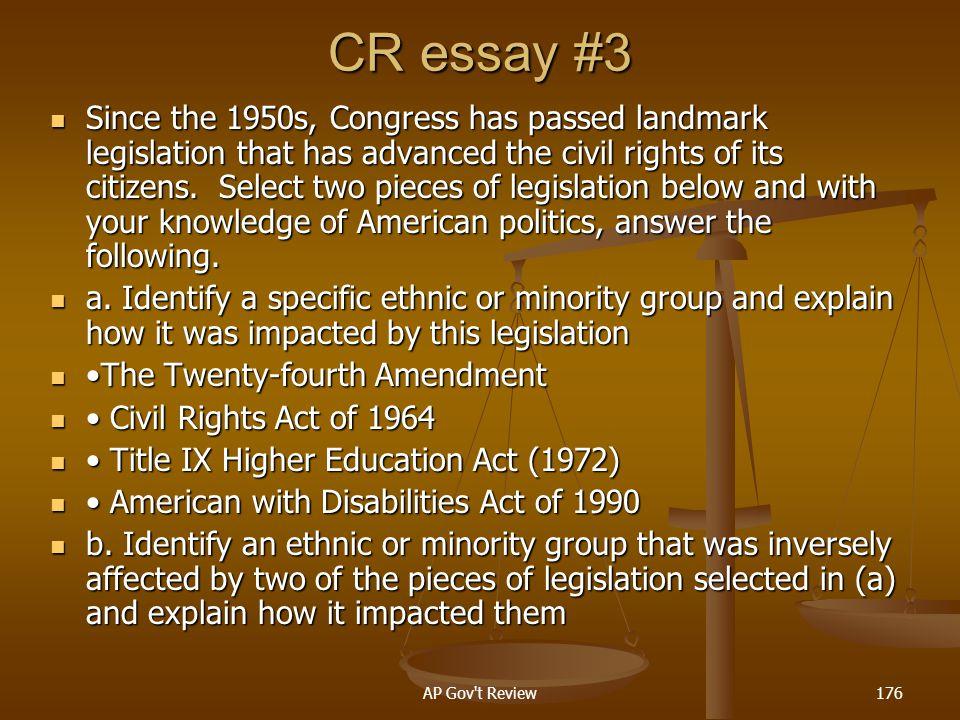 CR essay #3