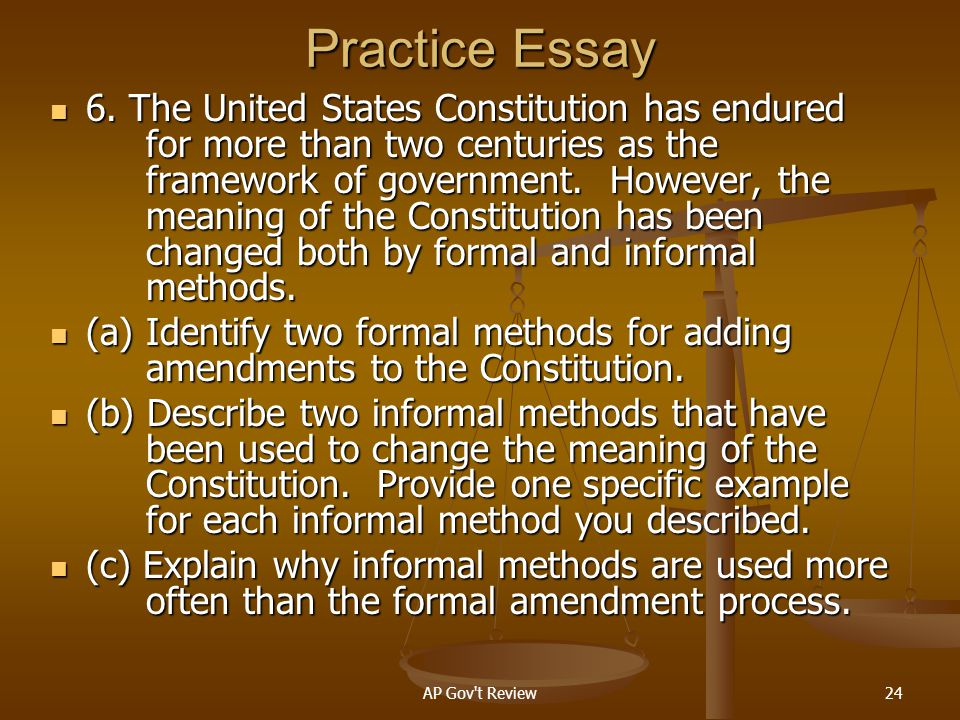 Practice Essay