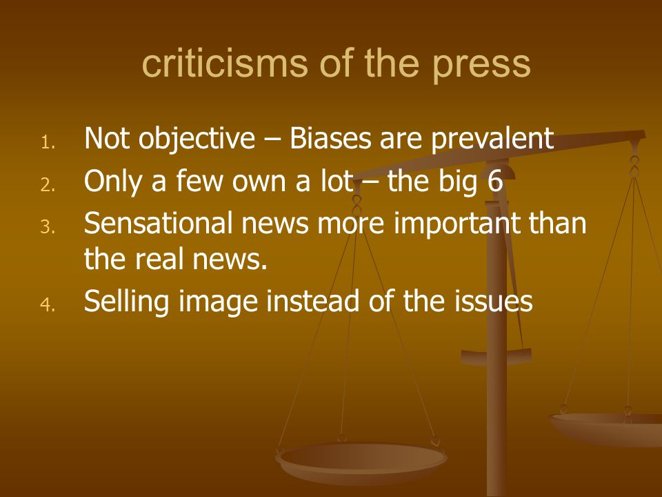criticisms of the press
