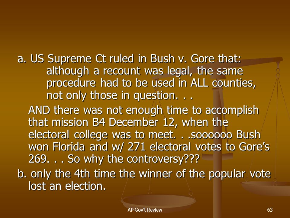 b. only the 4th time the winner of the popular vote lost an election.