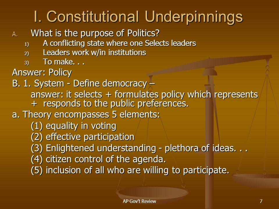 I. Constitutional Underpinnings