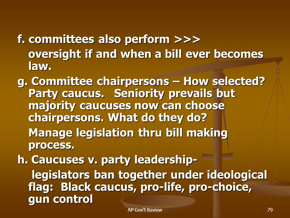 f. committees also perform >>>