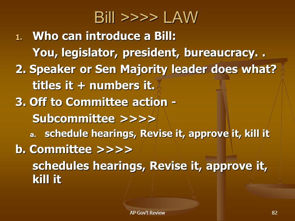 Bill >>>> LAW