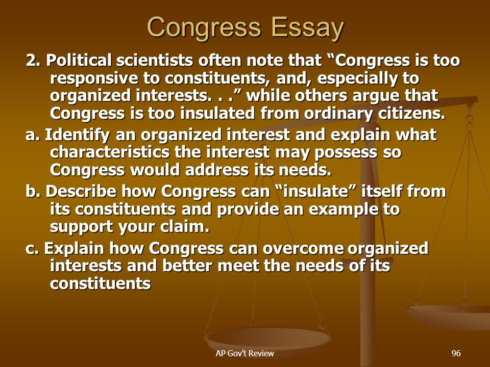 Congress Essay