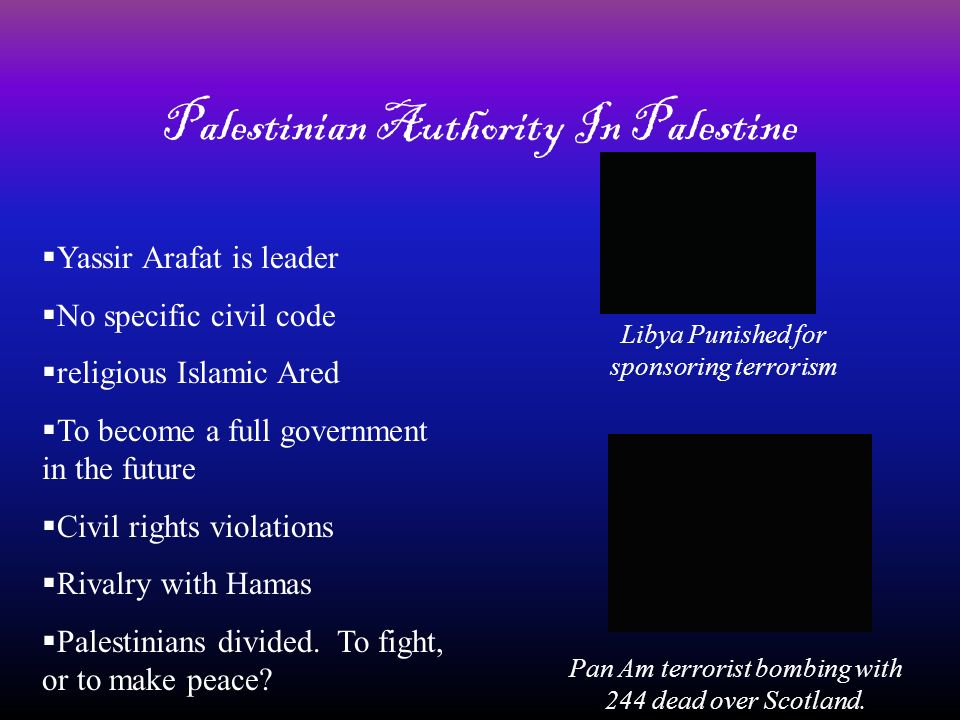 Palestinian Authority In Palestine